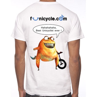 Tee-shirt de Monociclo Funicycle 2012 - Best Unicyclist ever!